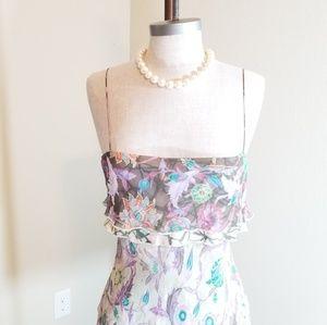 Diane Von Furstenburg spaghetti strap spring dress
